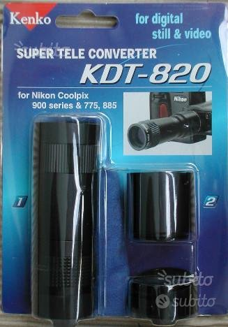 Convertitore tele Kenko KDT 820 8x Coolpix Nikon