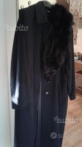 Cappotto in cashmere tg.44/46 con volpe nera