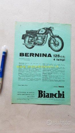 Bianchi 125 Bernina 1962 depliant moto originale