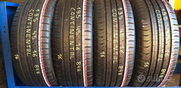 4 gomme 195 45 16 continental al 90%