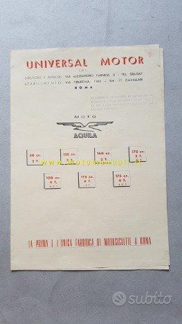 Moto Aquila produzione anni 50 depliant originale