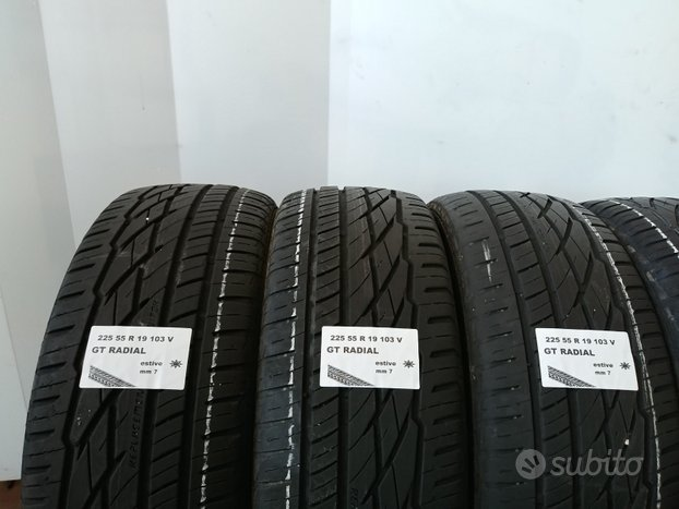 Gomme estive 225 55 r 19 gt radial usate