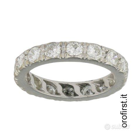 Anello veretta oro e diamanti 1,12ct