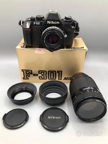 NIKON F-301 (Scatola + Accessori + Flash + Filtri)