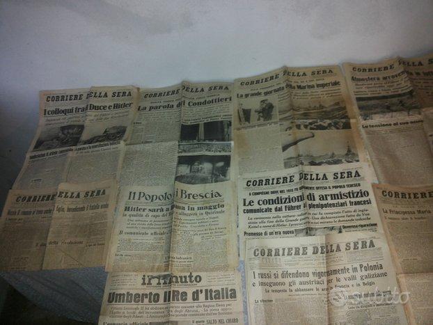 Antichi Giornali Di Guerra Originali E Dopoguerra