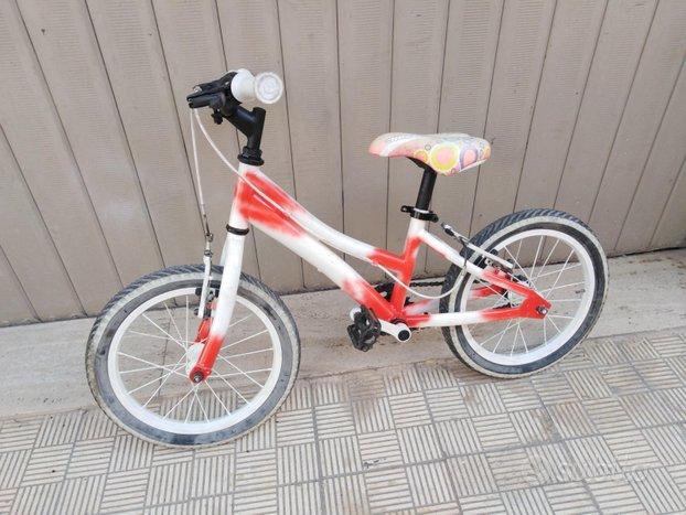 Bicicletta bici per bambina bimba misura 16 mtb