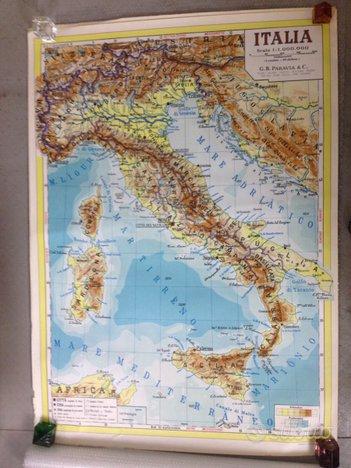 Cartina Italia Politica In Vendita.Paravia Grande Cartina Italia Fisica Anni 60 Collezionismo In Vendita A Milano Milano