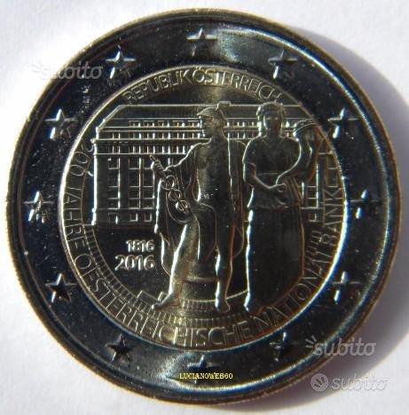 2016 AUSTRIA 2 euro 200° Banca Nazionale Austriaca