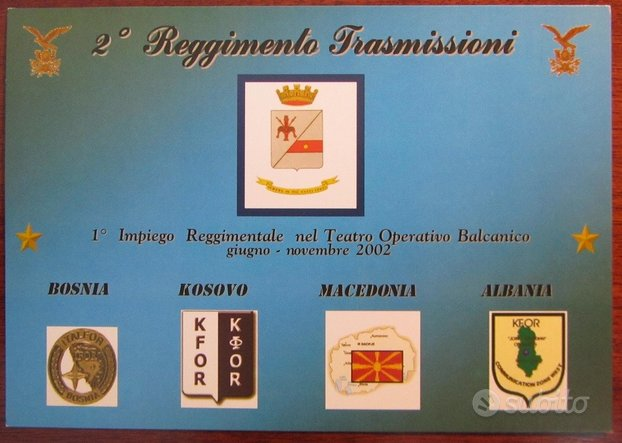 2° Reggimento Trasmissioni Alpino - Balcani 2002