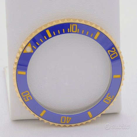 Rolex Submariner ghiera in oro ceramica blu nuova