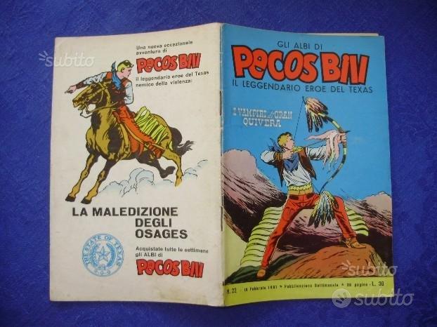 Fumetto PECOS BILL numero 22 originale del 1961