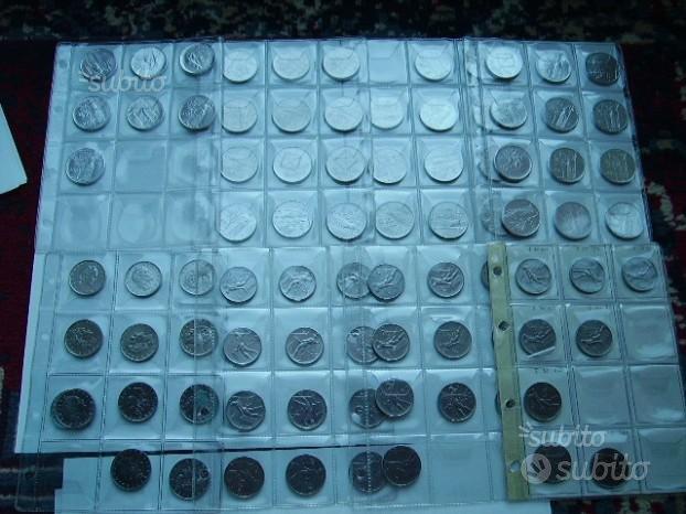 Serie di 36 MONETE 50 e 100 LIRE REPUBBLICA ITALIA