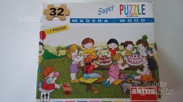 Puzzle compleanno in legno
