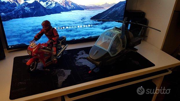 2 Action Man di 30 cm con moto ed elicottero