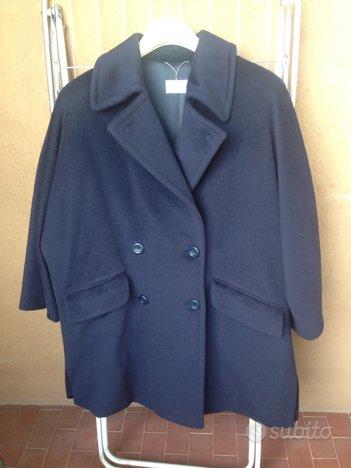 Giaccone 100% pura lana vergine blu Tg. 46