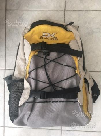 Zaino trekking moto multisuo Dakine giallo grigio