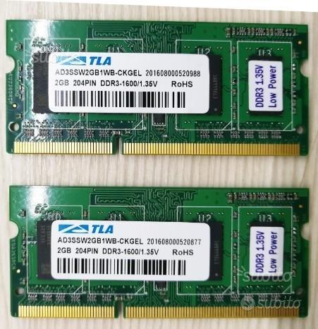 4 GB Sodimm DDR3 ram notebook o mini pc ATLA