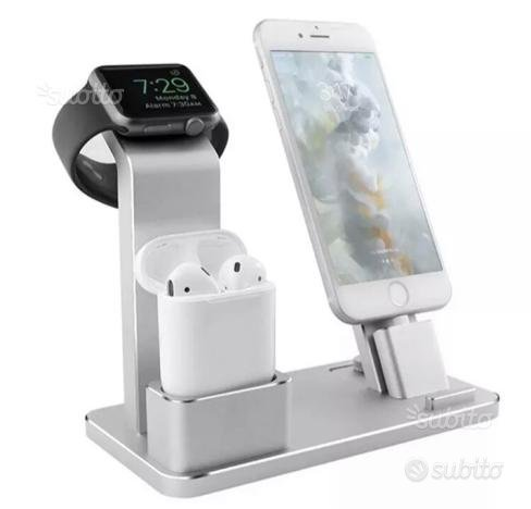 Supporto carica IPhone AirPods Apple Watch Nuovo