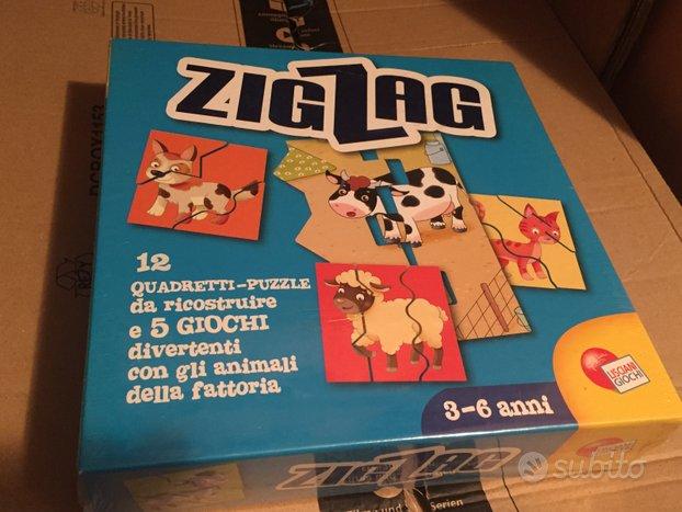 12 Puzzle Animali ZIG ZAG Lisciani (Nuovo)