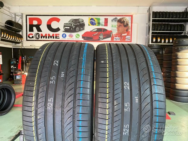 2 Gomme Semi Nuove 325 35 22 110YContinental EST
