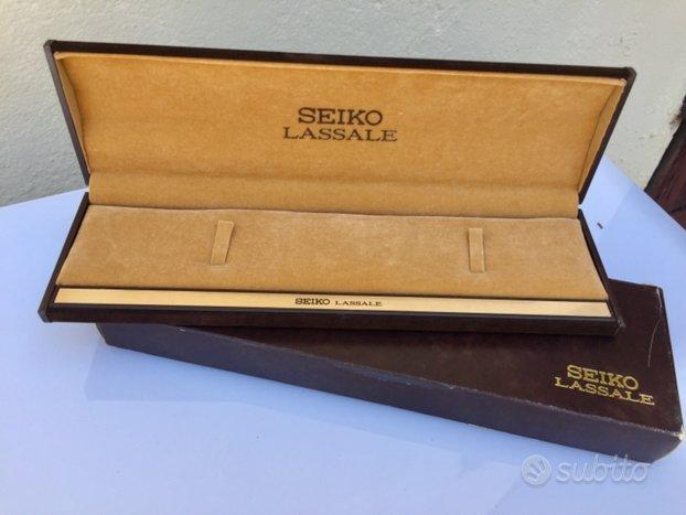 Scatola orologio Seiko anni 80