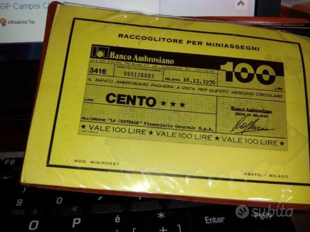 Micro assegni anni 70 nuovi di conio