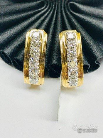 Orecchini BAROZZI oro 18 kt diamanti naturali (C)