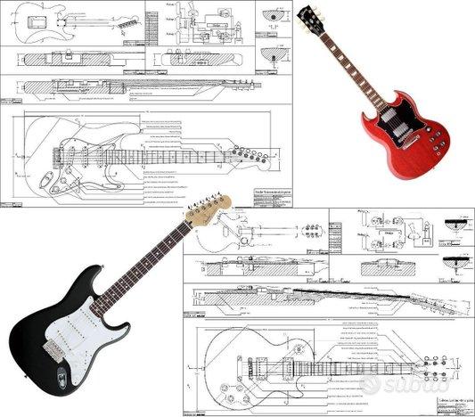 5 Progetti chitarre elettriche Fender Gibson