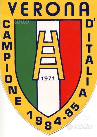 Hellas Verona adesivo Brigate scudetto '84/'85
