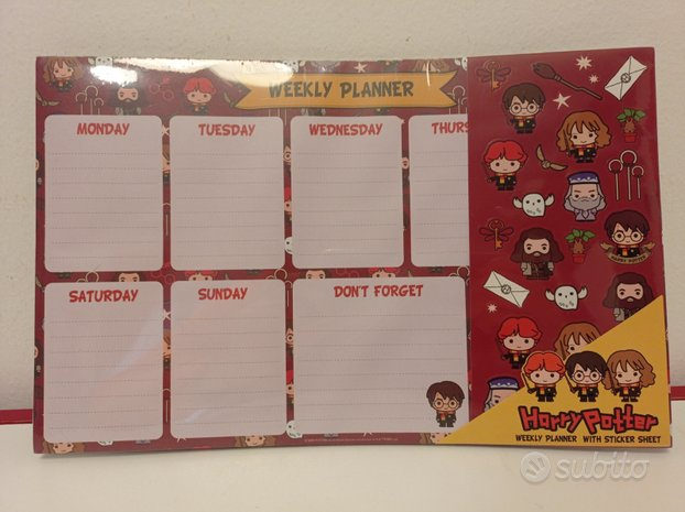 Weekly Planner Harry Potter,HARRY & CAMILA