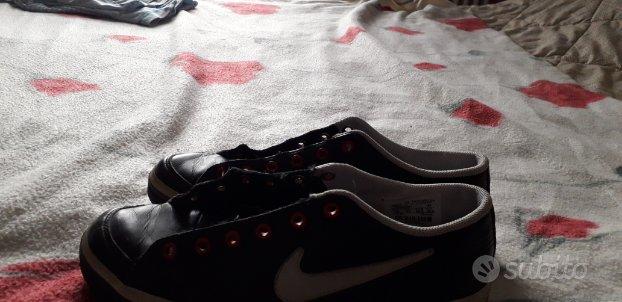 Scarpe Nike originali vintage pelle nera 37 1/2