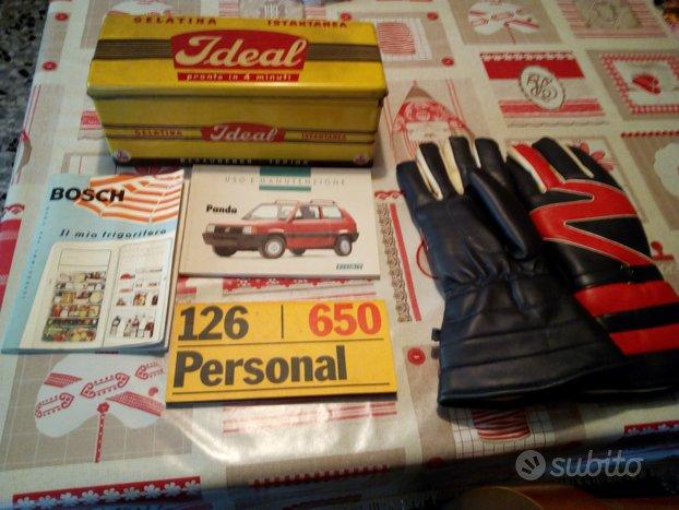 Vecchi guantoni,manuali macchine,frigo