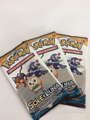Lotto 5 bustine sigillate Pokemon sole luna