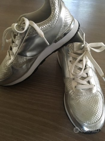 Zara sneakers donna 38 argento