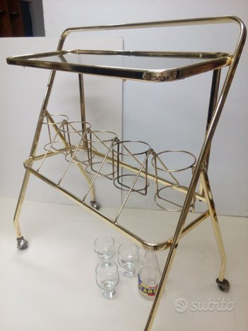 Carrello Bar - Porta bottiglie - Bar cart - Vintag