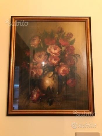 Grande quadro olio su tela