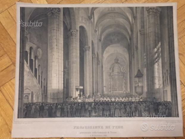 Basilio Armani, Trento, Professione di fede nella