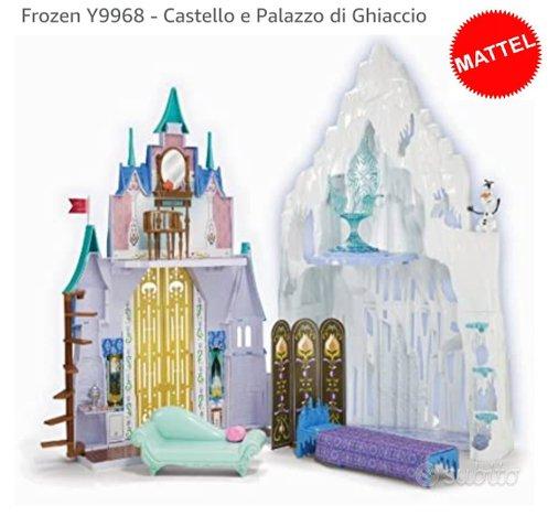 Frozen castello e palazzo di ghiaccio mattel