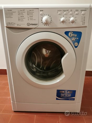 Lavatrice Indesit slim carica frontale 6 kg A++