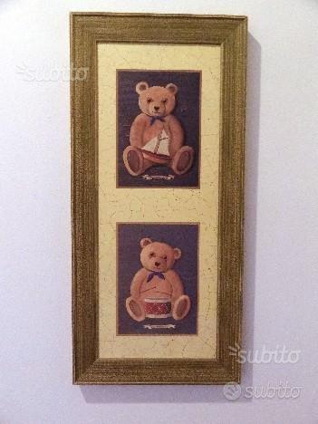 Quadro legno orsetti,Christian DELL
