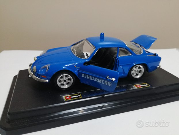 Modello auto renault alpine gendarmerie burago