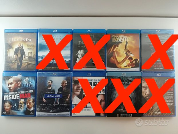 Blu ray disc hd titoli vari e cofanetti