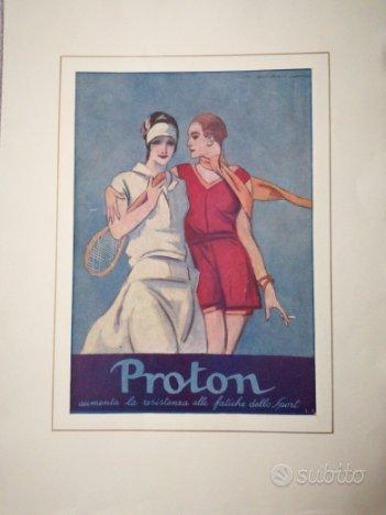 Pubblicità Proton - Ritaglio Originale Tennista