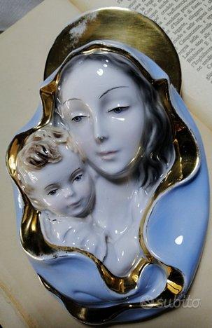Madonnina in ceramica invetriata