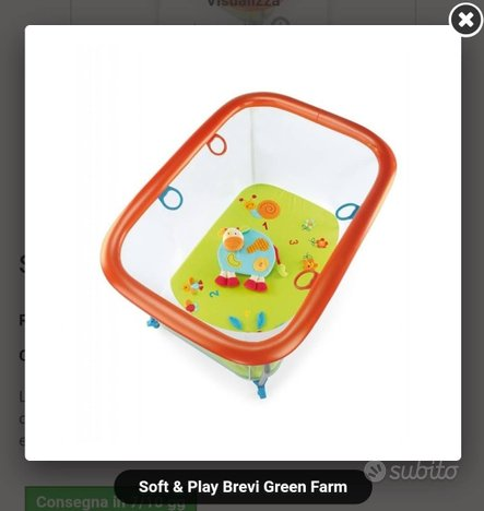 Box brevi green farm usato