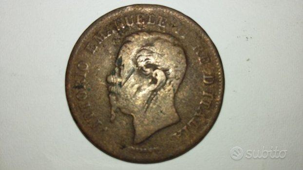 Moneta da 5 cent-Vittorio Emanuele II-conio 1862N