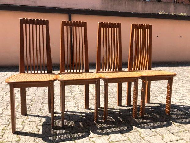 4 Sedie piu' tavolo in rovere - Arredamento e Casalinghi ...