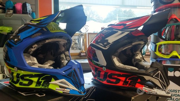 Casco Enduro Just J12 DOMINATOR carbon nuovo