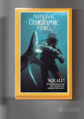 SQUALI, vhs originale National Geographic