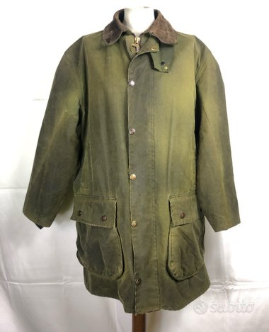 Barbour Northumbria verde Uomo C42 Large
